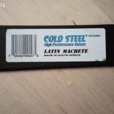 Militaria: COLD STEEL. MACHETE.. Lote 131282843