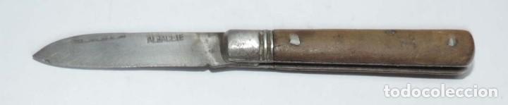ANTIGUA NAVAJA DE ALBACETE, BUEN ESTADO, MIDE ABIERTA 11 CMS. Y CERRADA 6,5 CMS. DE LONGITUD, VER TO (Militar - Armas Blancas Originales Fabricadas entre 1851 y 1945)