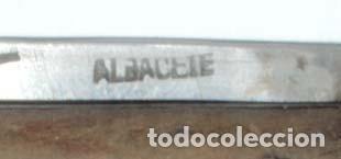 Militaria: ANTIGUA NAVAJA DE ALBACETE, BUEN ESTADO, MIDE ABIERTA 11 CMS. Y CERRADA 6,5 CMS. DE LONGITUD, VER TO - Foto 6 - 131904366