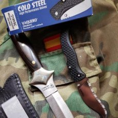 Militaria: LOTE CUCHILLO BOTERO CROWNING Y NAVAJA TACTICA COLD STEEL . Lote 132128690