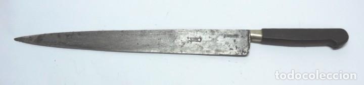 ANTIGUO CUCHILLO CON PUNZON DE CASTAGNON VACIADOR ESPARTEROS, ES GRANDE, MIDE 39,7 CMS. DE LONGITUD, (Militar - Armas Blancas Originales Fabricadas entre 1851 y 1945)