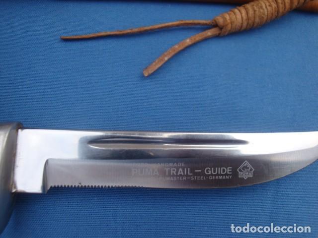 Militaria: CUCHILLO PUMA TRAIL- GUIDE MODELO 6382 HAND MADE - Foto 3 - 133471730