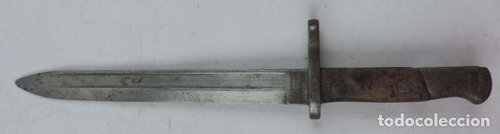 BAYONETA MILITAR MARCADA ARTILLERÍA FCA. DE TOLEDO 1898. MIDE 37, 5 CMS DE LARGO TOTAL Y HOJA DE 25, (Militar - Armas Blancas Originales Fabricadas entre 1851 y 1945)