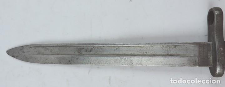 Militaria: Bayoneta militar marcada Artillería Fca. de Toledo 1898. Mide 37, 5 cms de largo total y hoja de 25, - Foto 4 - 133719478