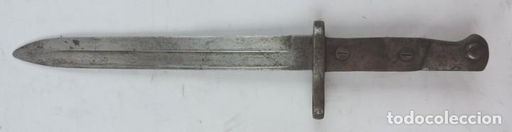 Militaria: Bayoneta militar marcada Artillería Fca. de Toledo 1898. Mide 37, 5 cms de largo total y hoja de 25, - Foto 5 - 133719478
