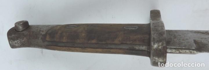 Militaria: Bayoneta militar marcada Artillería Fca. de Toledo 1898. Mide 37, 5 cms de largo total y hoja de 25, - Foto 7 - 133719478