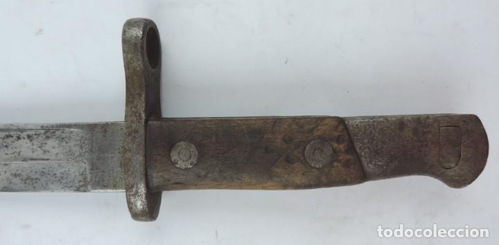 Militaria: Bayoneta militar Artillería Fca. de Toledo 1890 aprox. Mide 37, 5 cms de largo total y hoja de 25,2 - Foto 2 - 133719838