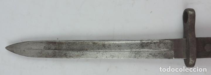 Militaria: Bayoneta militar Artillería Fca. de Toledo 1890 aprox. Mide 37, 5 cms de largo total y hoja de 25,2 - Foto 4 - 133719838