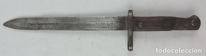 Militaria: Bayoneta militar Artillería Fca. de Toledo 1890 aprox. Mide 37, 5 cms de largo total y hoja de 25,2 - Foto 5 - 133719838