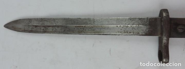 Militaria: Bayoneta militar Artillería Fca. de Toledo 1890 aprox. Mide 37, 5 cms de largo total y hoja de 25,2 - Foto 7 - 133719838