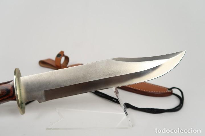 Gran cuchillo de caza bowie aleman marca rostfr - Sold