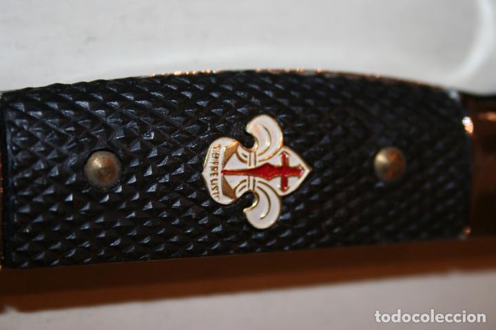 Militaria: Machete, cuchillo OJE Scouts, flor de lis con letras de Siempre listo.28,5 cms.como nuevo. Inox - Foto 3 - 137652830