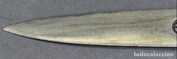 Militaria: Daga facon argentino en hierro y metal blanco con funda cuero Juca Tandil Argentina siglo XX - Foto 5 - 139974350