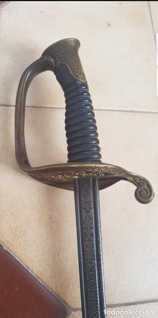 Militaria: Espada antigua FCA. DE TOLEDO fechada 1870 hoja muy detallada buen estado ALTA COLECION - Foto 2 - 142611176