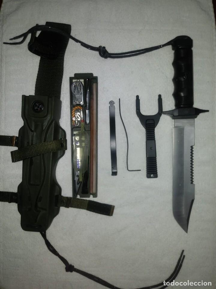 Militaria: LOTE 2 CUCHILLOS: MARTO EXPLORA SURVIVAL LANZA BENGALAS BREWER ORIGINAL + COVER UP DE LA CASA NIETO - Foto 11 - 136423922