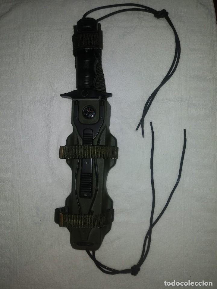 Militaria: LOTE 2 CUCHILLOS: MARTO EXPLORA SURVIVAL LANZA BENGALAS BREWER ORIGINAL + COVER UP DE LA CASA NIETO - Foto 15 - 136423922
