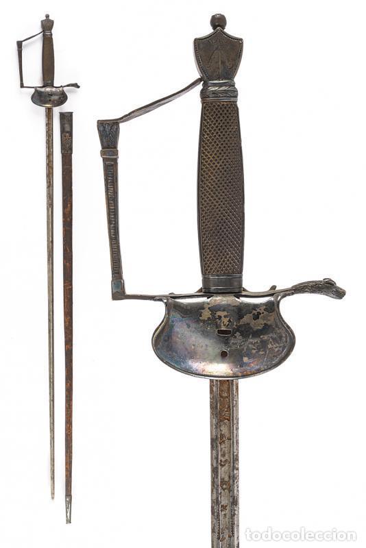 ESPADA HOJA GRABADA TOMASO AYALA EN TOLEDO (Militar - Armas Blancas Originales de Fabricación Anterior a 1850)