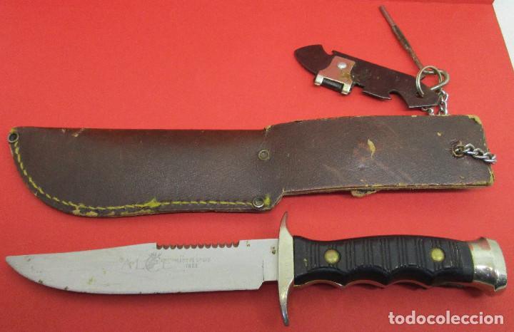 CUCHILLO DE MONTE, DEPORTIVO, ALCE (MUELA), CON FUNDA, MADE IN SPAIN (Militar - Armas Blancas Originales de Fabricación Posterior a 1945)
