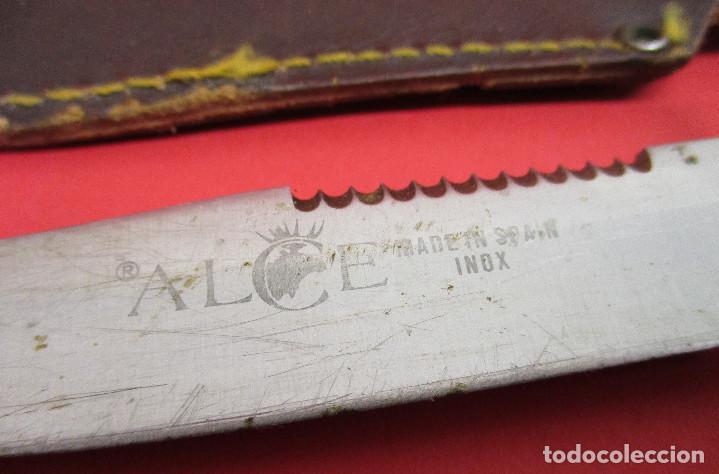 Militaria: Cuchillo de monte, deportivo, ALCE (MUELA), con funda, made in Spain - Foto 2 - 146087418