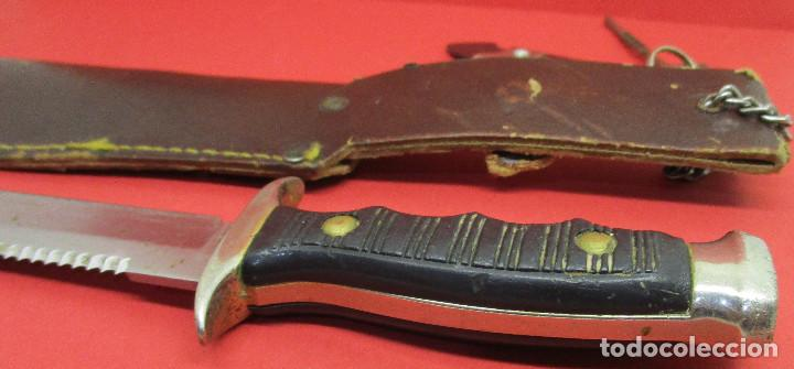 Militaria: Cuchillo de monte, deportivo, ALCE (MUELA), con funda, made in Spain - Foto 5 - 146087418
