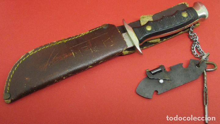 Militaria: Cuchillo de monte, deportivo, ALCE (MUELA), con funda, made in Spain - Foto 7 - 146087418