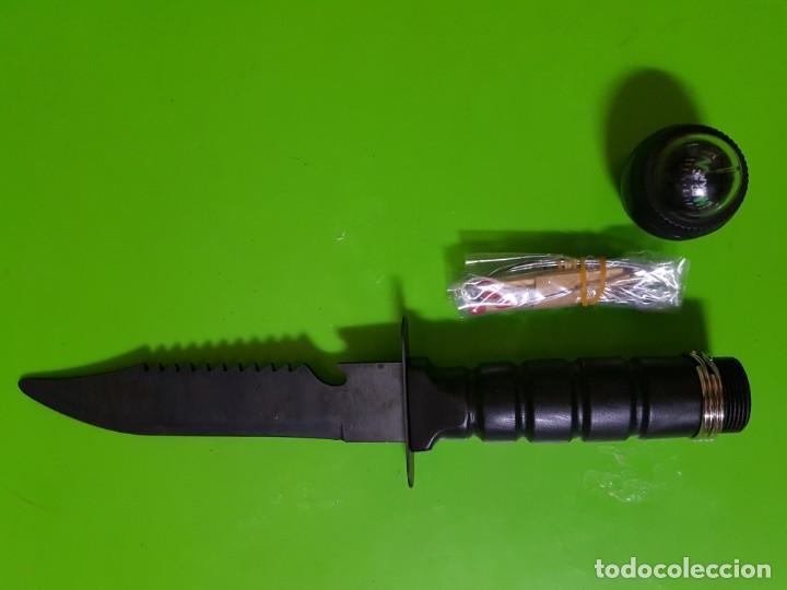 Militaria: Cuchillo de Supervivencia años 90 con Brújula,cerillas,funda estuche,piedra de afilar, etc - Foto 6 - 146462074