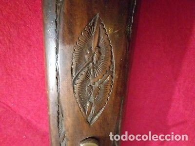 Militaria: ANTIGUO SET DE CAZADOR PUÑAL Y TRINCHADOR CON FUNDA DE MADERA - Foto 3 - 147299434