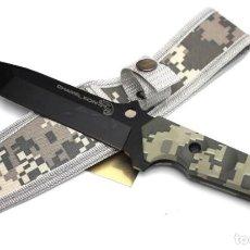 Militaria: CUCHILLO TACTICAL CON FUNDA NYLON MANGO FIBRA 31854. Lote 147333602