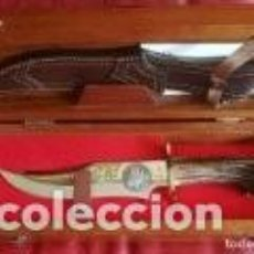 Militaria: CUCHILLO MUELA CANIS LUPUS SIGNATUS EDICIÓN LIMITADA Nº 39/50EJEMP. 23 CM HOJA. Lote 147560030