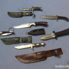 Militaria: * LOTE DE CUCHILLO PEQUEÑO EN MINIATURA, VARIEDAD, Y UNA NAVAJA. ZX. Lote 148525722