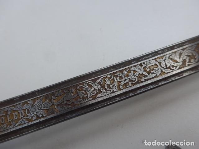 Militaria: * Antigua espada de isabel II con taza abatible, macada de 1852. Original. ZX - Foto 14 - 150481418