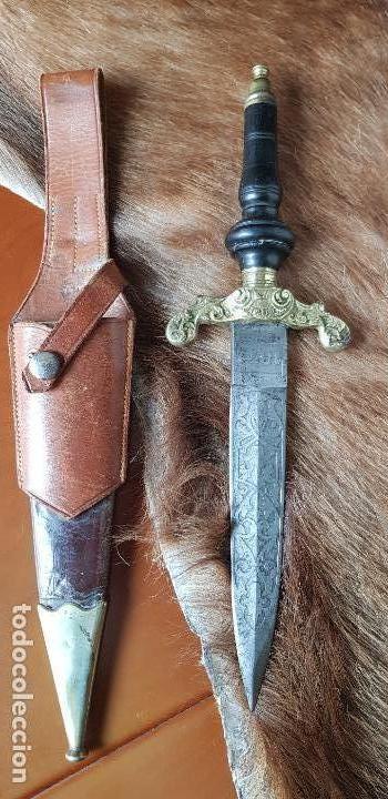 BAYONETA TACO ANTIGUA TOLEDO CAZA 1863 CUCHILLO (Militar - Armas Blancas Originales Fabricadas entre 1851 y 1945)