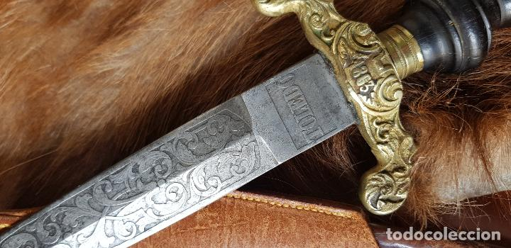 Militaria: Bayoneta taco antigua Toledo caza 1863 cuchillo - Foto 2 - 152616886