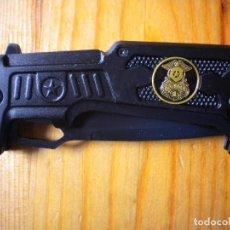 Militaria: NAVAJA POLICIA NUEVA YORK NEGRA DE TRASTIENDA NUEVA. Lote 152916722