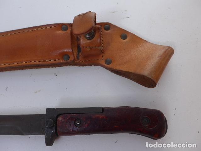 Militaria: * Antigua bayoneta checa comunista, modelo cachas de baquelita, original. ZX - Foto 2 - 152963434