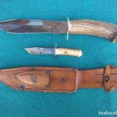 Militaria: CUCHILLO CAZA HERMANOS EXPÓSITO ALBACETE. Lote 155174742