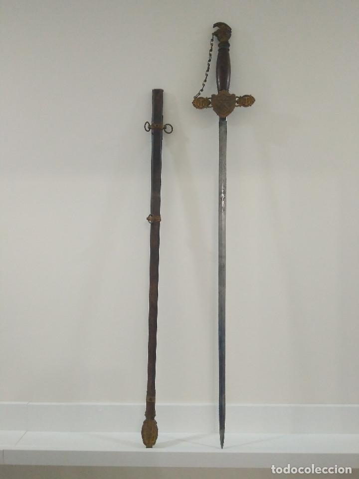 ESPADA MASONICA. AOUW. LILLEY COLUMBUS. 1880. OHIO. EEUU. (Militar - Armas Blancas Originales Fabricadas entre 1851 y 1945)