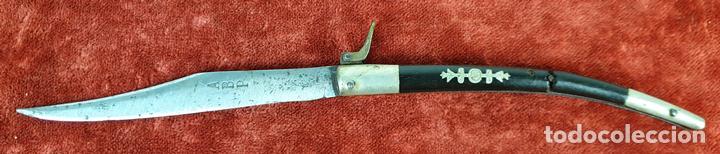 NAVAJA ESPAÑOLA. HOJA DE ACERO FORJADO. MARCAS ABP. SIGLO XIX-XX. (Militar - Armas Blancas Originales Fabricadas entre 1851 y 1945)