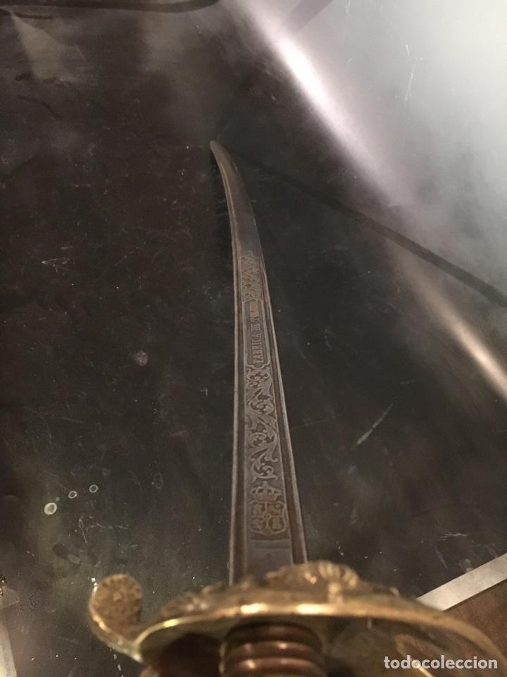 Militaria: Sable Espada Isabel II fabrica Toledo 1865 hoja grabada - Foto 11 - 156467877