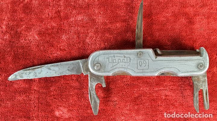 NAVAJA MULTIUSOS.CACHAS EN ALUMINIO.ESPAÑA. SIGLO XX. (Militar - Armas Blancas Originales Fabricadas entre 1851 y 1945)