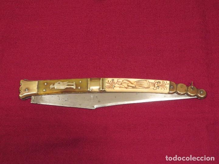 NAVAJA FRANCESA (Militar - Armas Blancas Originales de Fabricación Anterior a 1850)