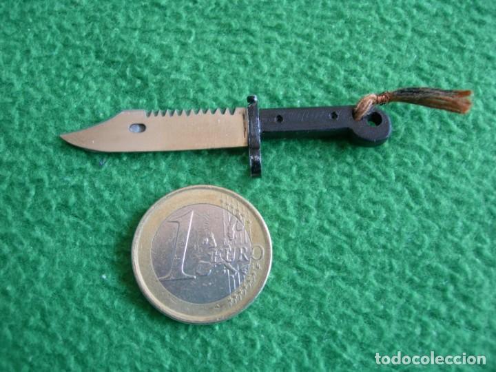 Militaria: CUCHILLO-MACHETE-BAYONETA AK-47 Réplica en miniatura - Foto 3 - 159670174