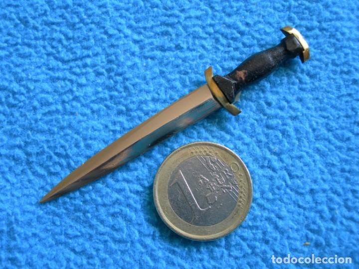 Militaria: Réplica en miniatura de daga alemana de oficial de las SS - Foto 5 - 159687986