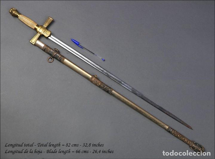 Militaria: Antigua Espada Masónica Americana. USA, 1900 - Foto 19 - 160243182
