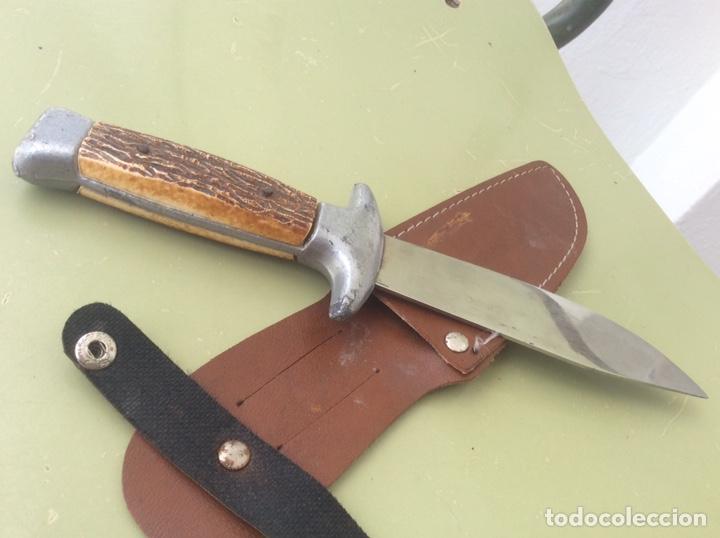 Militaria: Antiguo cuchillo de caza - Foto 3 - 160466577