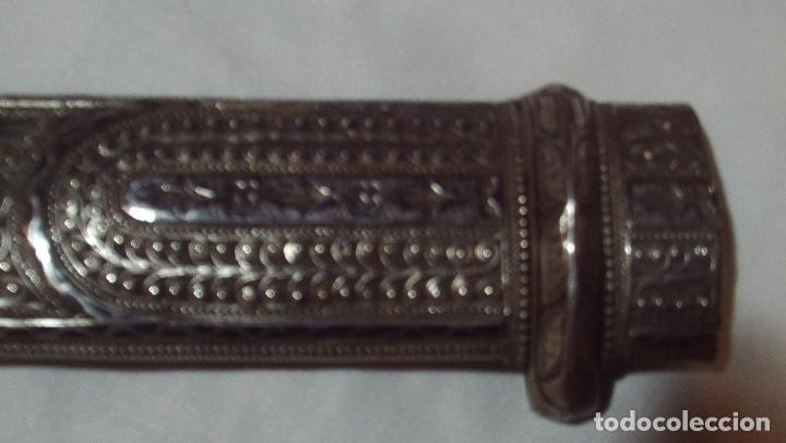 Militaria: cuchillo daga kindjal ruso ,mediados xix plata pavonada y filigrana de plata,finisima calidad - Foto 4 - 160593326