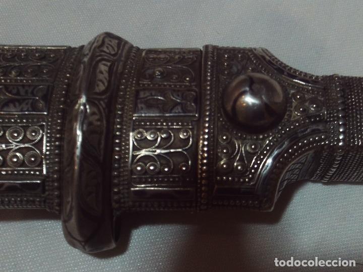 Militaria: cuchillo daga kindjal ruso ,mediados xix plata pavonada y filigrana de plata,finisima calidad - Foto 13 - 160593326