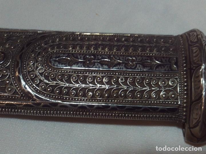 Militaria: cuchillo daga kindjal ruso ,mediados xix plata pavonada y filigrana de plata,finisima calidad - Foto 14 - 160593326