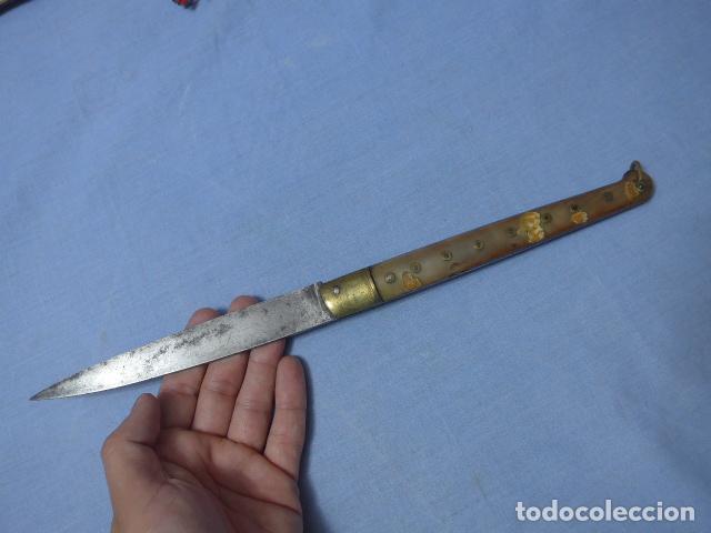 Militaria: * Antigua gran navaja de finales siglo XIX, mide 35 cm abierta, original. ZX - Foto 18 - 161373342