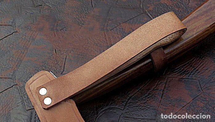Militaria: hacha en acero de damasco artesanal. 49 cm largo - Foto 3 - 163529586